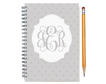 Personalized 2017-2018 2 year weekly planner with monogram, Custom planner, Start any month, 24 month calendar, book, SKU: 2yrW dot m
