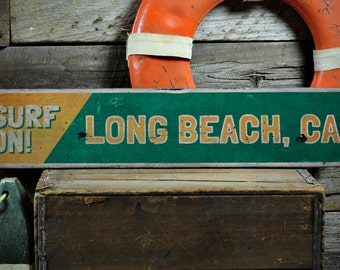 Surfer Sign, Custom Beach Sign, Surfing Decor, Coastal Decor, Surfer Gift, Surfing Sign - Rustic Hand Made Vintage Wooden Sign ENS1001212