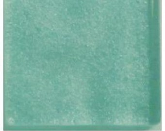 50 - 3/8 inch ROBIN EGG BLUE  Metallic Glass Mosaic Tiles