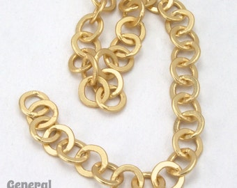 6.4mm Matte Gold Round Cable Chain #CCG224