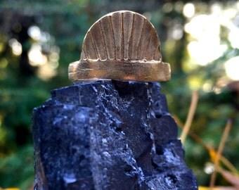 Infinite Cocoon ring in Held/ Bronze/ US size 8.75