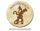 """Stranger Things Demogorgon Button 1.25"""" Pinback Pin Button Badge or Magnet Dungeons & Dragons Monster Demon"""