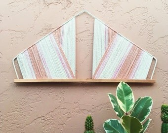mallory tapestry // dyed rope wall hanging