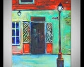 New ORLEANS ORIGINAL Large Painting Rue Bourbon Street 30x24 by BenWill