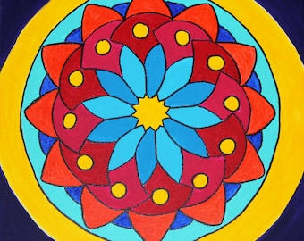Colorful Mandala Original Painting