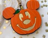 RESERVED BROOCH VERSION Mickey Mouse Jack O Lantern