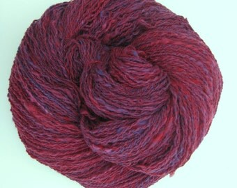 Handspun Yarn, Merino Wool, Novelty, Homespun, Yarn to Knit, Crochet, and Weave, 520 yards