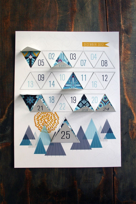 Modern Advent Calendar Printable PDF