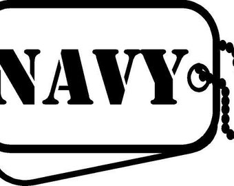 Navy Dog Tag Etsy