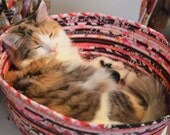 Cuddly cat snuggle bed - pink and black