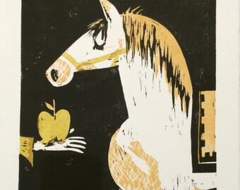 Gold Apple, Horse original print