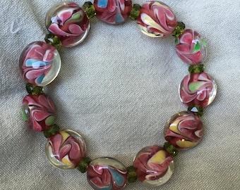 Dream Bracelet-Handmade Multi-Colored Glass Beads