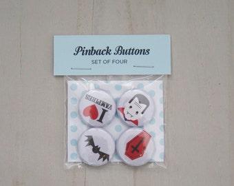 I Heart Vampires Buttons