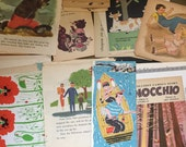 Stacks of illustrated picture book pages
