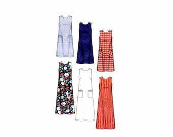 Misses Sleeveless Dress in Two Lengths Simplicity 7149 Sewing Pattern Full Figure Size 10 - 12 - 14 - 16 - 18 - 20 UNCUT