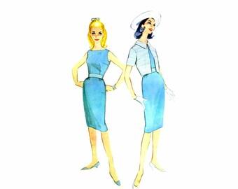 1960s Sheath Dress Bolero Jacket McCalls 5451 Vintage Sewing Pattern Size 11 Bust 31 1/2