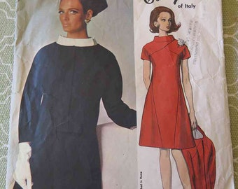 Vintage 60s Vogue Couturier 1648 Galitzine of Italy Womens Dress and Jacket Sewing Pattern size 12 B32