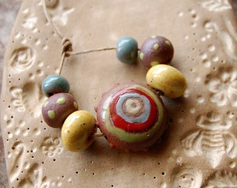 Dream Tribe / Ceramic Bead Set
