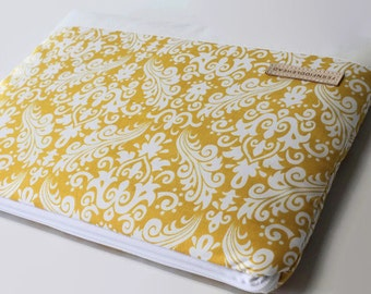MacBook Air Case 11, 13 inch Laptop Sleeve, Women's MacBook Air Cover - Yellow Damask
