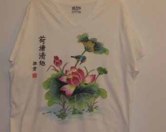 Hand-painted T shirt