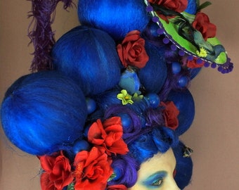 Blueberries and Blossoms Art Wig