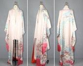 shop sale / silk kimono / 1950s / furisode / ADELIZ floral vintage kimono