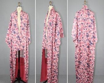kimono sale / vintage kimono / silk robe / dressing gown / GINKGO japanese kimono