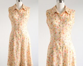 Vintage Pastel Balloon Print Dress