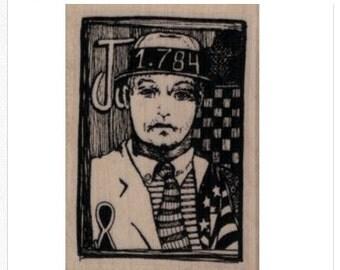 rubber stamp Whimsical Man in Tie designer mary vogel lozinak  number 19913 stamping supplies