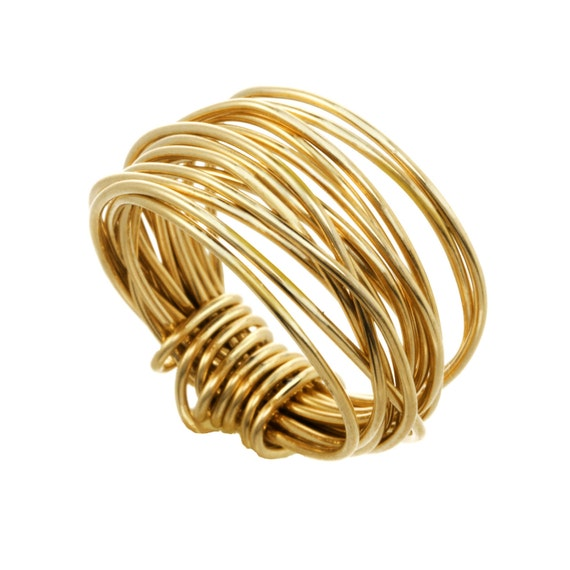 14k gold filled wire ring wide wire ring middle finger ring