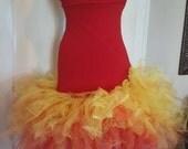 Fire Girl Rave Tutu Dress by IM.BUTTERFLYCREATIONS Sz xs