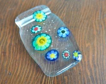 Fused Glass Pendant / Sun Catcher (Flower Power)