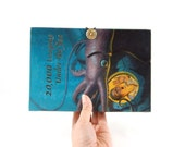 Twenty Thousand Leagues Under the Sea Book Clutch Purse - made from recycled vintage book by Rebound Designs