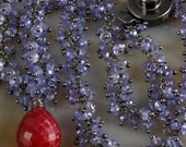 Ruby & Tanzanite Necklace - Cluster - oxidized - effortlessly classic - signature