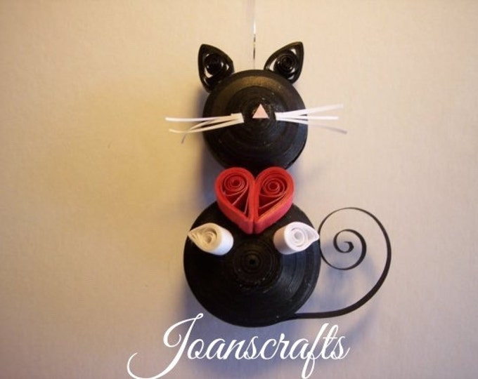 Quilling, Cat miniature ornament