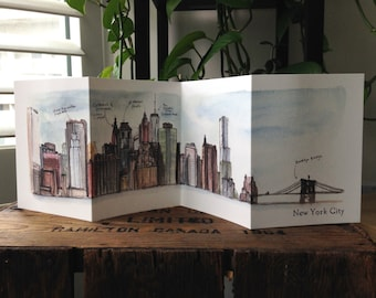 New York Skyline Accordion Card