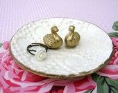 Swan Pair Jewelry Ring Dish Holder