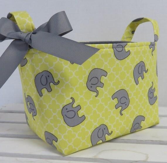 Fabric Organizer Bin Toy Storage Container Basket - Sweet Gray ...