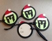 Spartan Race Santa holiday gift tags