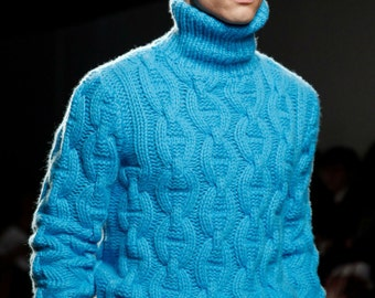 On  SALE   Men's Sweater  Inspired by Hermes Menswear Collection in Paris  Made to order