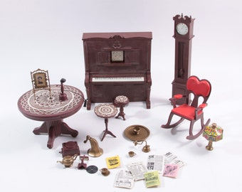 Jody's Victorian Parlor 1975 accessories and Jody Doll House Furniture ~ The Pink Room ~ 161208