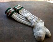 Children's Lederhosen Cable Knit Socks