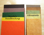 Ultrasuede and Nicole's BeadBacking Earth colors Bead and Craft Foundation art suppliesQ117