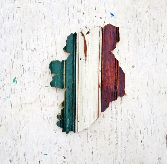 Ireland Wall Art Irish Decor Reclaimed Wood Art By Woodenaht