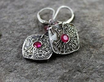 Dandelion Fine Silver Earrings - Make A Wish