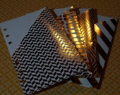 Filofax Personal Planner Pockets - Gold Foils And White
