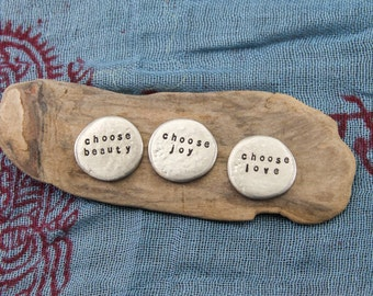 "soul mantra ""choose"" pocket talisman set"