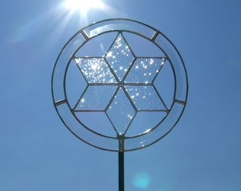 White Star Of David Tree Topper With Light Clips Lighted