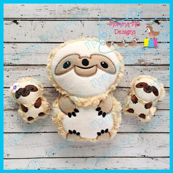 Sloth Softie Machine Embroidery File From Mommamc On Etsy