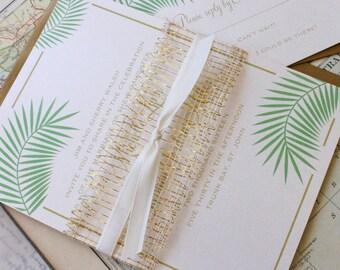 Elegant Wedding Invitation (St. John) - Design Fee